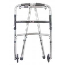Опоры-ходунки прогулочные, с переключением режимов «шагающие/жесткие» с одним замком, на 2-х опорах и 2-х колесах (диаметр 125 мм.)