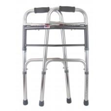 Опоры-ходунки прогулочные, облегченные с двумя замками, на 4-х опорах, без колес