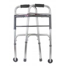 Опоры-ходунки прогулочные, с двумя замками, на 2-х опорах и 2-х колесах (75 мм.)