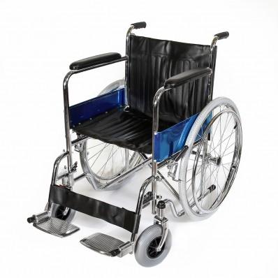 Кресло-коляска со съемными подножками (усиленные передние шины)