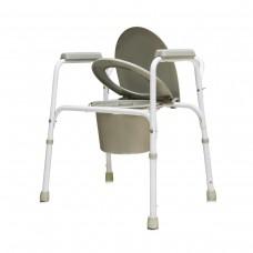 Кресло туалет стальное со спинкой, регулируемое по высоте