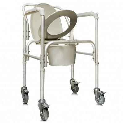 Кресло-туалет на колесах, арт. АМСВ6809
