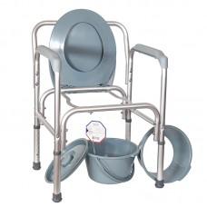 Кресло-туалет облегченное со спинкой, регулируемое по высоте