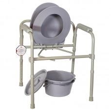 Кресло-туалет складное, регулируемое по высоте