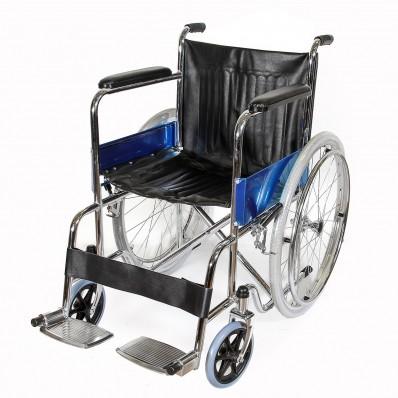 Кресло-коляска из хромированной стали (шины пневматические)